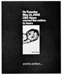 "CBS's 1968 report ""Hunger in America"" shone the spotlight on food insecurity in the US."