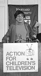Peggy Charren was the founder of Action for Children's Television (ACT), the advocacy group that brought national attention to the issue of children's advertising in the mid-1970s.